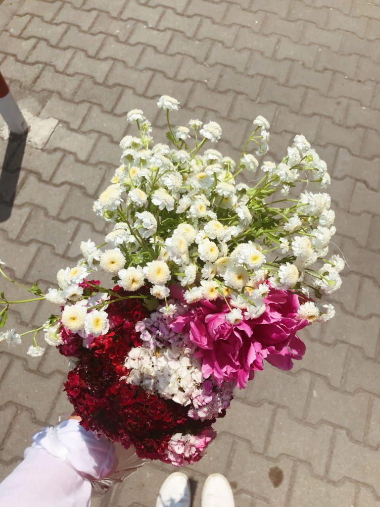 kwiatki z targu