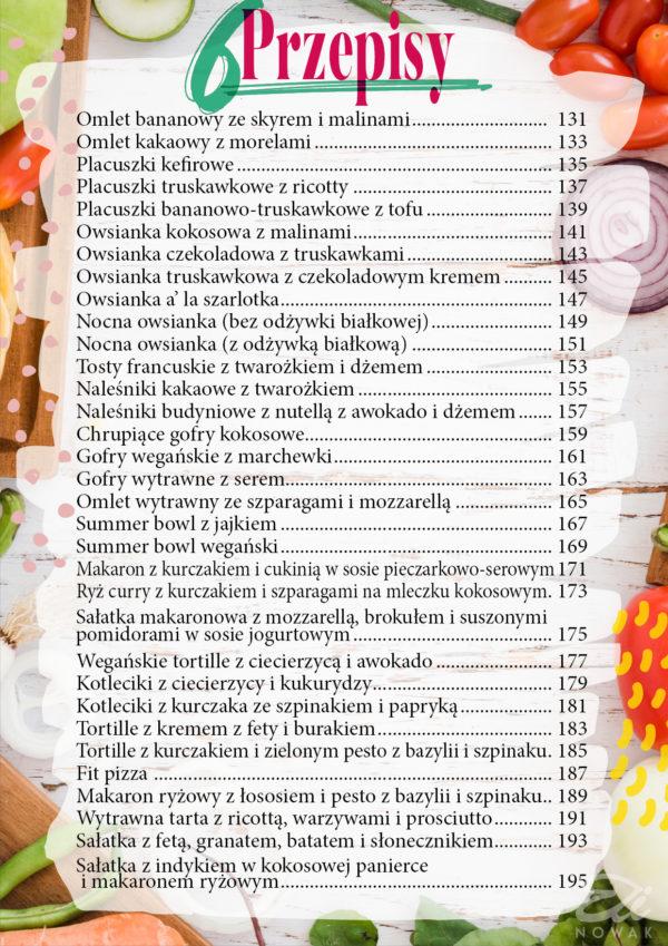 Spis przepisów e-book na lato Elinowak